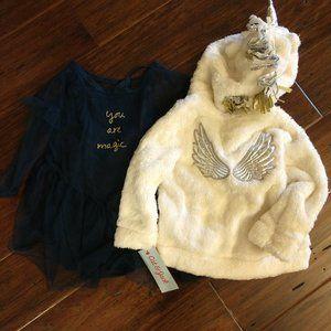 Cat & Jack Unicorn Jacket & Dress NEW